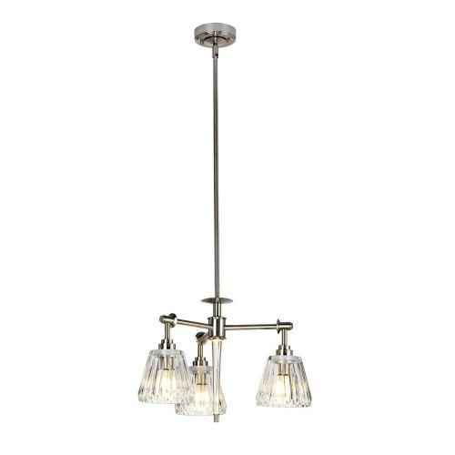 Elstead Agatha 3Lt LED IP44 Bathroom Pendant Light Brushed Nickel BATH/AGATHA3P BN