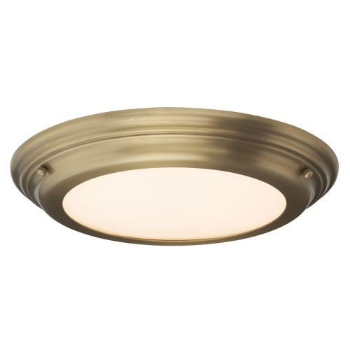 Elstead Welland Flush Light Aged Brass ELS/WELLAND/F AB