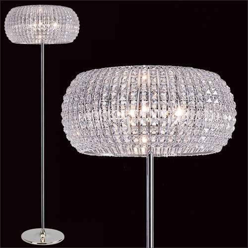 Impex Rome 6Lt Polished Chrome Crystal Floor Lamp CFH905262/FL/CH