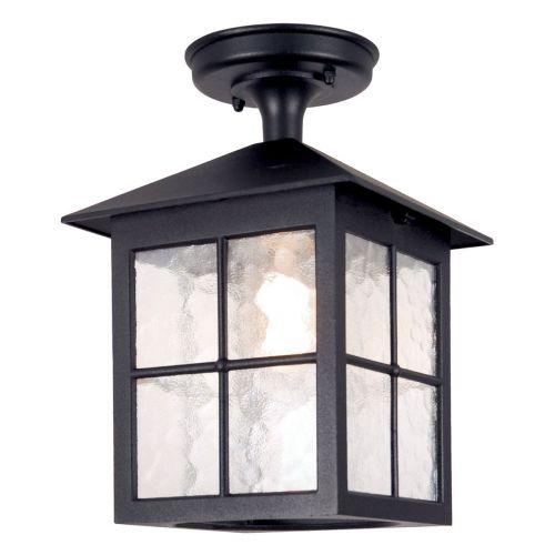 Elstead Winchester 1 Light Outdoor Ceiling lantern Black BL18A