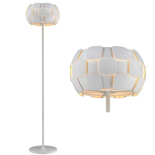 Impex PG504241/03/FL/WH Brigitte 3 Light Floor Lamp White Frame