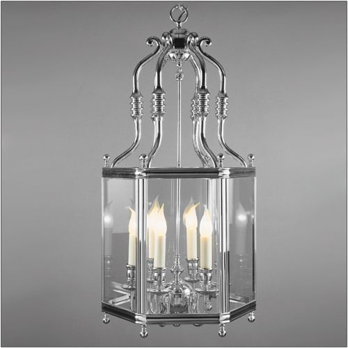 Impex LG00024/06/CH Regal 6Lt Polished Chrome Indoor Lantern
