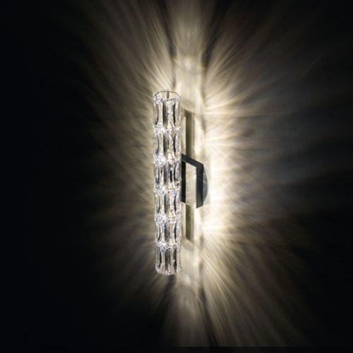 Swarovski SVR615 Verve Crystal 5 Light Wall Fitting Stainless Steel Frame