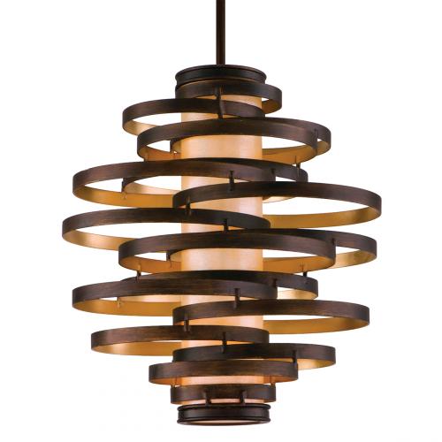 Corbett Vertigo Ceiling Medium Pendant 3 x E27 Bronze/Gold Leaf 113-43-CE