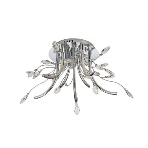 Lekki Chiara Medium Ceiling 34W LED 3000K 1146lm Chrome LEK3075