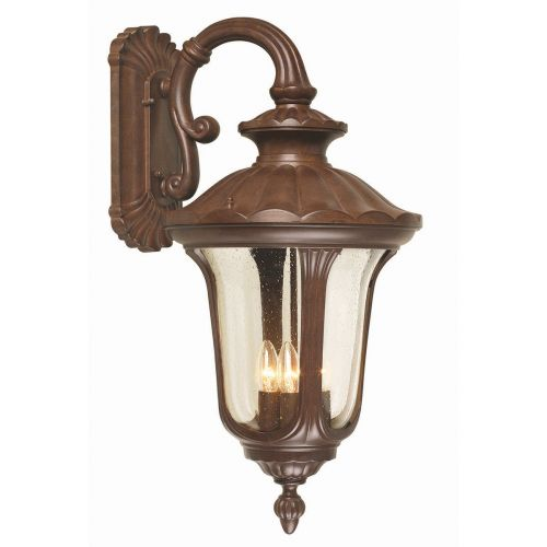 Elstead Chicago Large Outdoor 4 Light Wall Lantern CC2/L Rusty Brown Patina