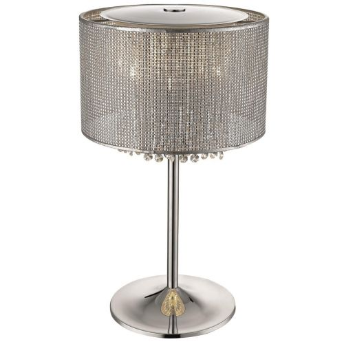 KES CEL04TABLECHR Celestial Crystal 4 Light Table Lamp Chrome Frame