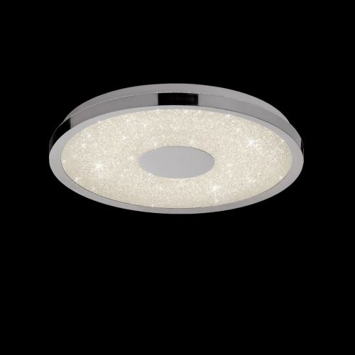 Mantra M5931 Centara LED 3000K-6500K Polished Chrome Ceiling Flush 38CM
