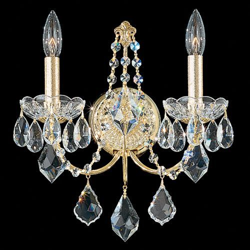 Schonbek 1702 Century 2Lt Heritage Crystal Wall Light