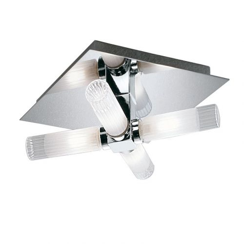Franklite Chrome Bathroom IP44 Ceiling Light CF1286
