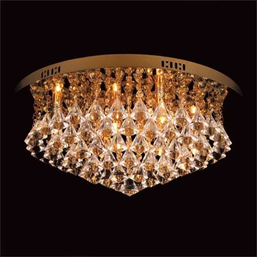 Impex Parma CFH011025/06/G 6 Light Gold Flush Ceiling Fitting