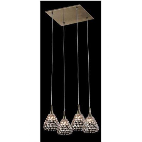 Impex CFH501131/04/AB Simone 4Lt Antique Brass Ceiling Square Pendant