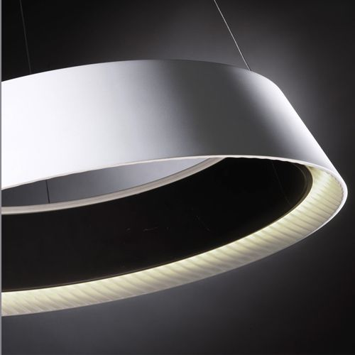 Grok 00-0054-05-BW Ringofire White and Black, 1 Lt LED Large Pendant