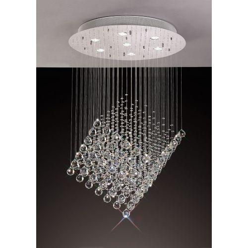 Diyas IL30783 Colorado Crystal 7 Light Diamond Pendant Polished Chrome Frame