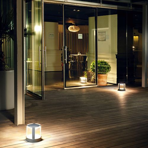 LEDS C4 Compact LED Outdoor Pedestal 10-9847-Z5-CL Urban Grey