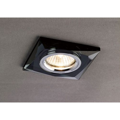 Diyas IL30812BL Crystal Recessed Downlight Chamfered Square Rim Only Black