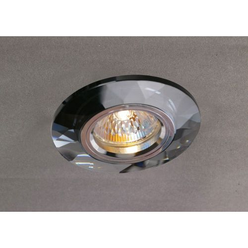 Diyas IL30816BL Crystal Recessed Downlight Chamfered Round Rim Only Black
