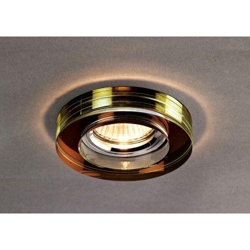 Diyas IL30821BZ Crystal Recessed Downlight Deep Round Rim Only Bronze