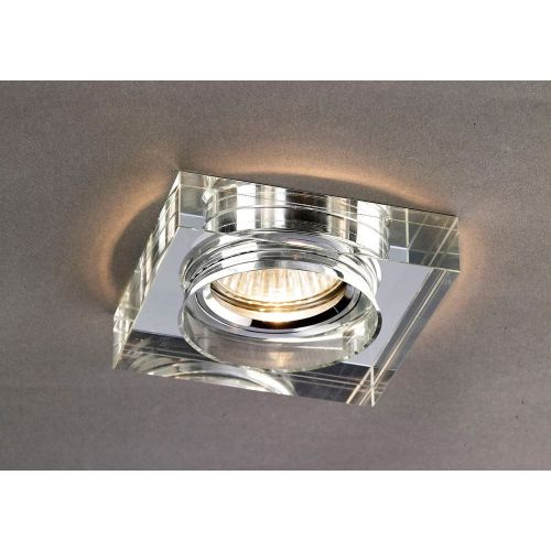 Diyas IL30822CH Crystal Recessed Downlight Deep Square Rim Only Clear