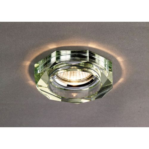 Diyas IL30823WI Crystal Recessed Downlight Deep Hexagonal Rim Only White Wine