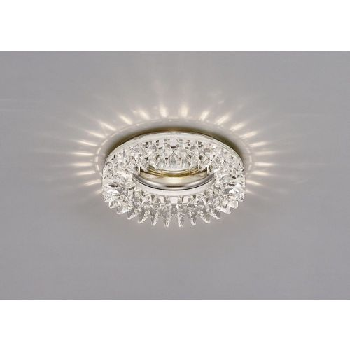 Diyas IL30833CH Crystal Recessed Downlight Round Square Crystals Perimeter Rim Only Clear