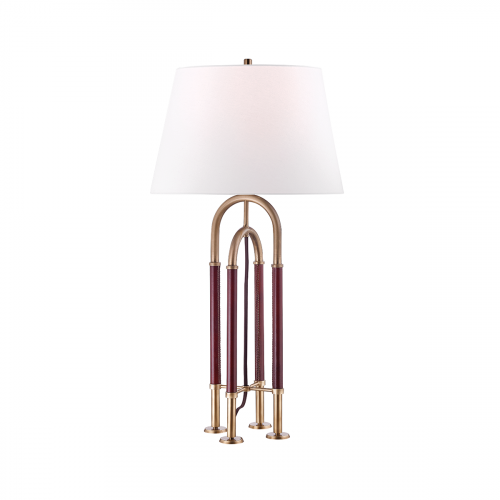 Hudson Valley Arnett Table Lamp with Shade1xE27Aged Brass L1132-AGB-CE