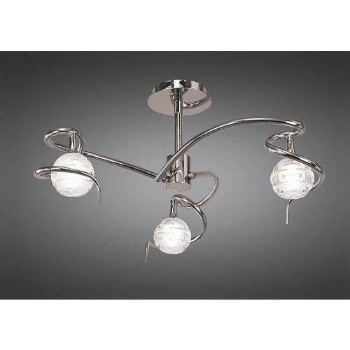 Mantra Dali 3 Light Chrome Ceiling Light M0088