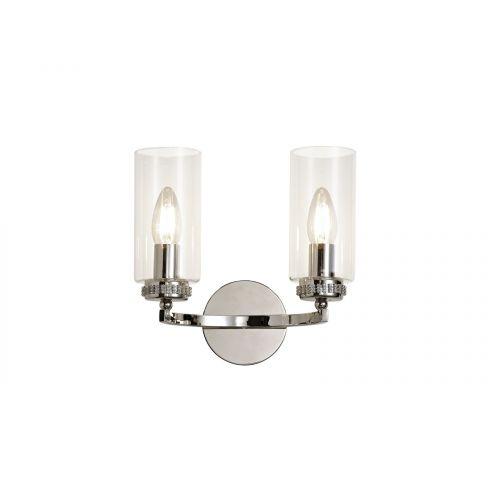 Lekki Dyani Wall Lamp Switched 2 x E14 Nickel LEK3089