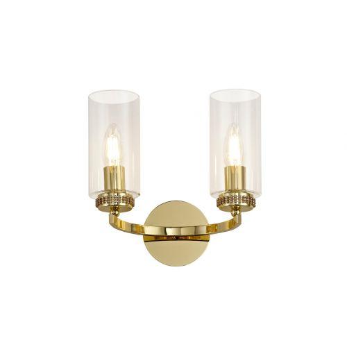 Lekki Dyani Wall Lamp Switched 2 x E14 Gold LEK3094