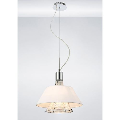 Diyas Davina Asfour Crystal Pendant With White Shade Small IL30042WH