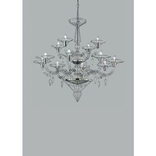 Metal Lux Dedalo Ceiling Chandelier 12 x E14 Polished Chrome 192.112.01