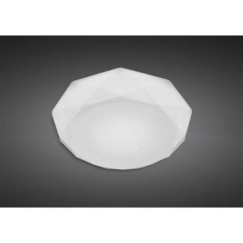 Mantra M5111 Diamante Ceiling Light Fitting 21W LED 3000K 2100lm White Acrylic