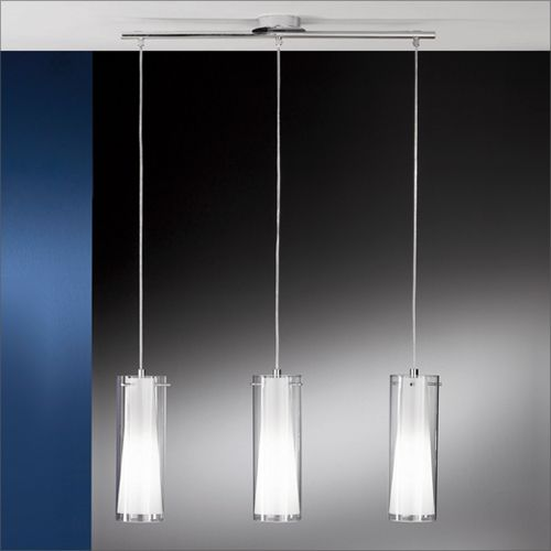 Eglo Pinto 3-Light Clear and Frosted Glass Pendant 89833