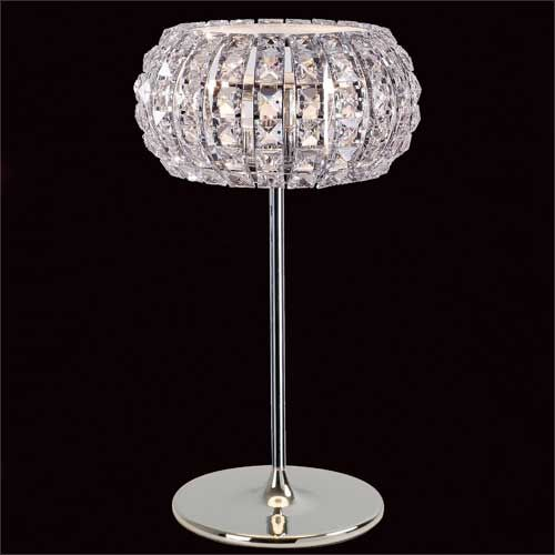Impex Rome 3Lt Polished Chrome Crystal Table Lamp CFH905262/TL/CH