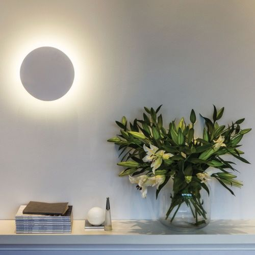 Astro Eclipse Round White Plaster LED Wall Light 7249