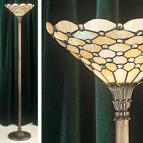 Interiors 1900 Tiffany Pearl Floor Lamp Uplighter 64299