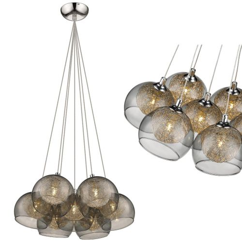 KES ELS07CLUSPCHR Elsie 7 Light Cluster Pendant Polished Chrome Frame