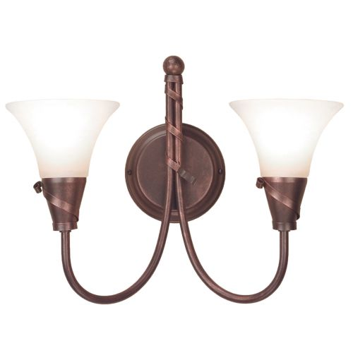 Elstead Emily 2 Light Copper Patina Wall Light EM2 CP