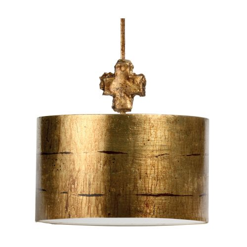 Flambeau FB/FRAGMENT-G/PL Fragment 1Lt Aged Gold Ceiling Pendant