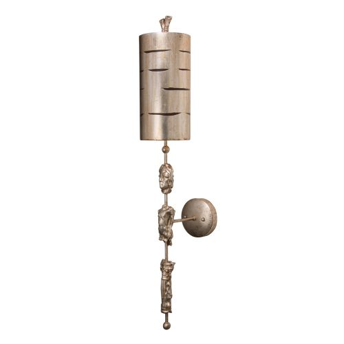 Flambeau FB/Fragment-S1 Silver Sconce Sculpted Elements Wall Light
