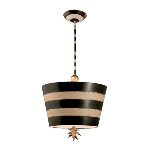 Flambeau South Beach Single Pendant Black And Cream FB/SOUTHBEACH/P
