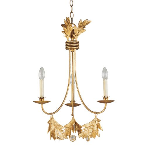 Flambeau Sweet Olive 3 Lt Chandelier Gilded Gold FB/SWEET OLIVE3