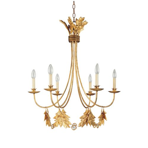 Flambeau Sweet Olive 6 Lt Chandelier Gilded Gold FB/SWEET OLIVE6