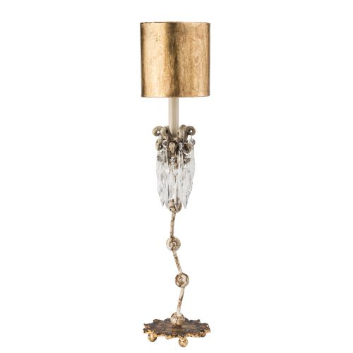 Flambeau Venetian Table Lamp Beige Patina Gold FB/VENETIAN/TL
