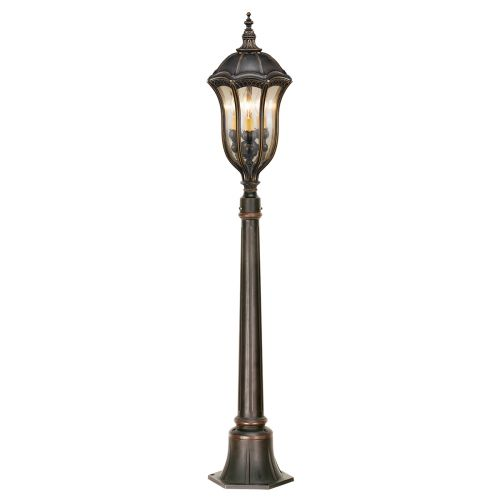 Feiss Baton Rouge Walnut Finish Outdoor Pillar FE/BATONRG4
