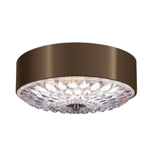 Feiss FE/BOTANIC/F/S Botanic 3Lt Dark Aged Brass Flush Ceiling Light