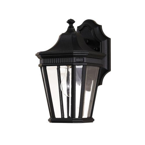 Feiss Cotswold Lane Small Wall Lantern FE/COTSLN2/S BK Black Die-Cast Aluminium