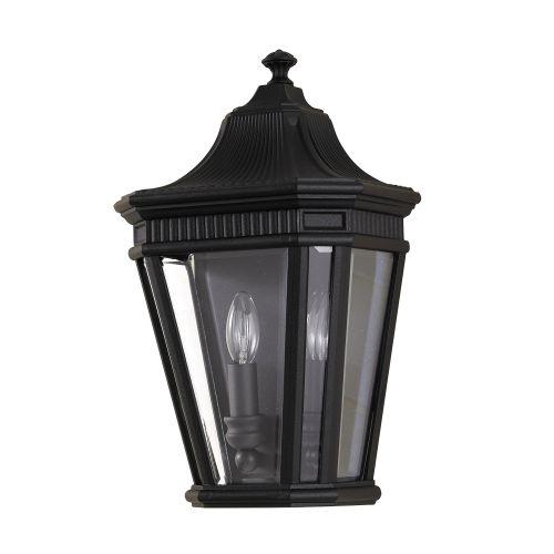 Feiss Cotswold Lane Half Wall Lantern FE/COTSLN7 BK Black Die-Cast Aluminium