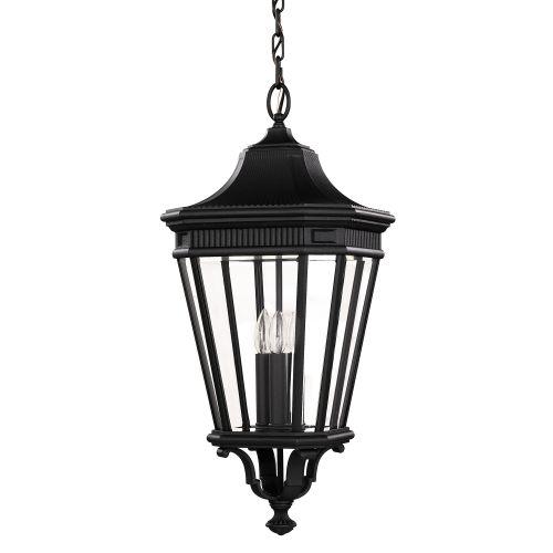Feiss Cotswold Lane Large Chain Outdoor Lantern FE/COTSLN8/L BK Black Die-Cast Aluminium