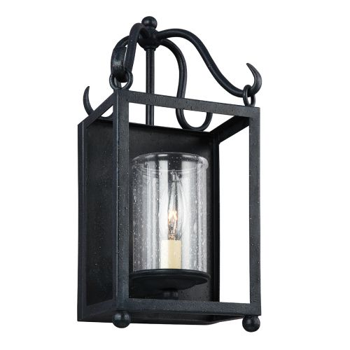 Feiss FE/DECLARATION1 Declaration 1Lt Antique Forged Iron Wall Light